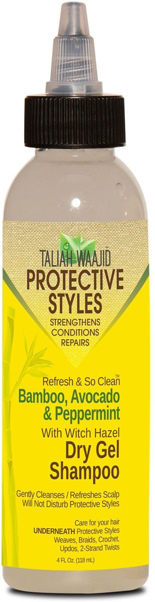 Taliah Waajid - Protective Styles - Refresh And So Clean - Bamboo, Avocado And Peppermint-  Dry Gel Shampoo -118ml