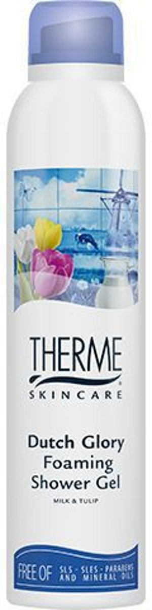 Therme Dutch Glory Douchegel voor Vrouwen 200 ML – 20x9x4cm | Shower Gel | Bad en Doucheverzorgings Producten