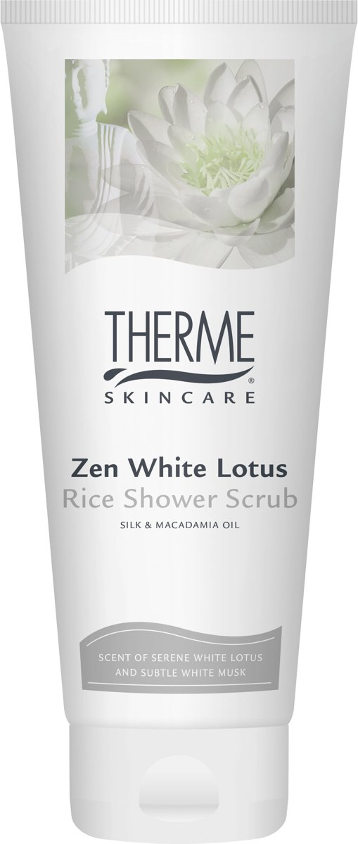 Therme Zen White Lotus Rice Shower Scrub 200ml