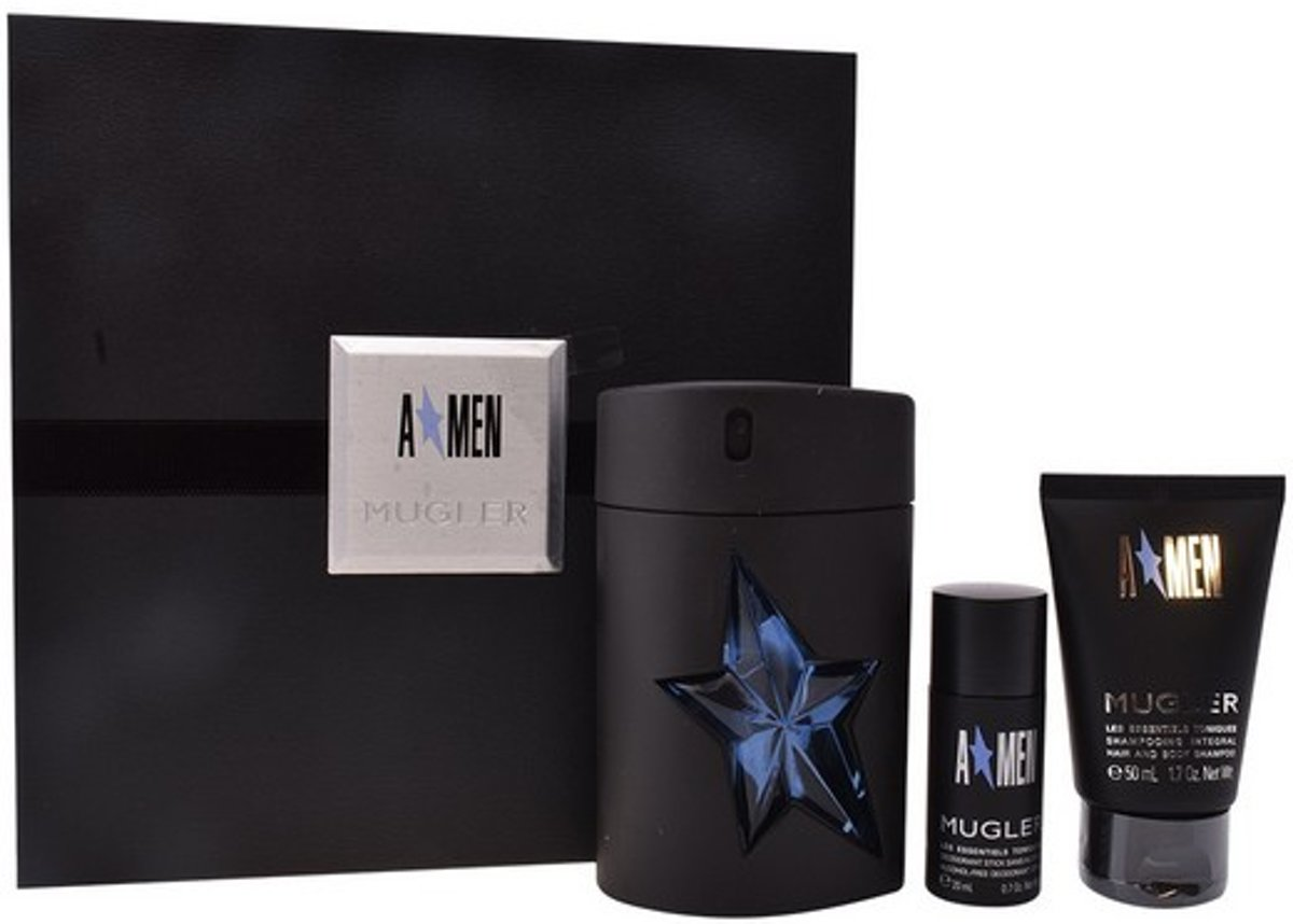 Parfumset voor Heren A*men Rubber Thierry Mugler (3 pcs)