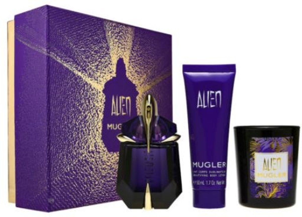 Thierry Mugler - Eau de parfum - Alien 30ml eau de parfum + 50ml bodylotion + candle - Gifts ml