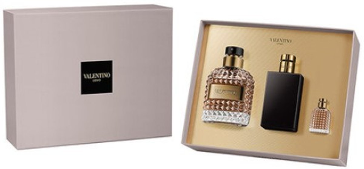 Valentino - Eau de toilette - Uomo 100ml eau de toilette + 4ml eau de toilette + 100ml after shave balm - Gifts ml