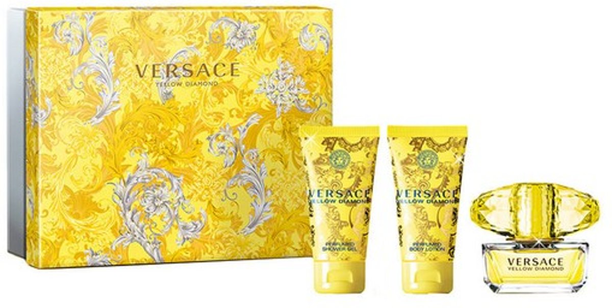 Parfumset voor Dames Yellow Diamond Versace (3 pcs)