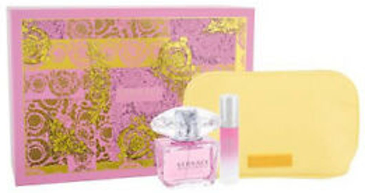 Versace Bright Crystal 90 ml Edt + 10ml Edt + Cosmetic Bag set