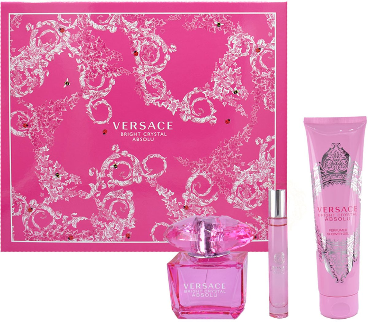 Versace Bright Crystal Absolu edp 90ml+Showergel 150ml+10ml