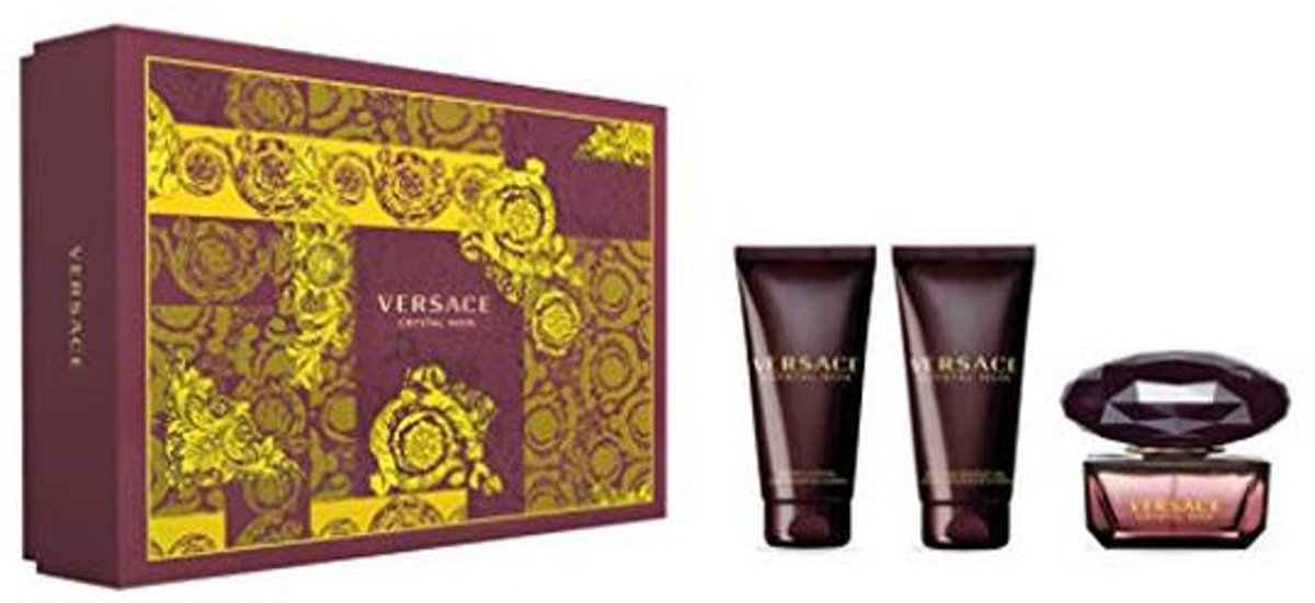 Versace CRYSTAL NOIR SET edt vapo 50 ml + bath & shower gel 50 ml + body lotion 50 ml