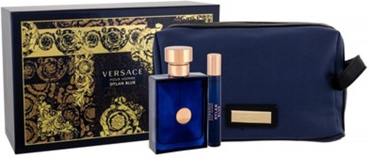 Versace Dylan Blue Eau De Toilette Spray 50ml Set 3 Pieces 2019