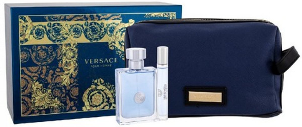Versace Eros Gift Set 100ml EDT + 10ml EDT + Toiletry Bag