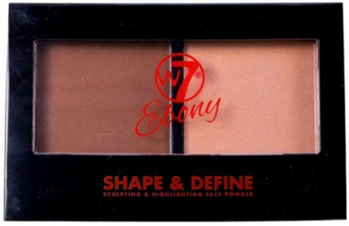 W7 Ebony Shape & Define Face Powder Medium