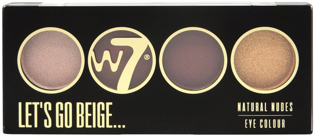W7 Lets Go Beige Eye Colour - Oogschaduw Palette 12g