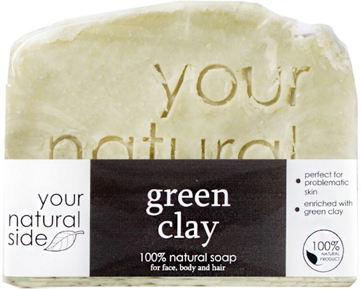 Your Natural Side Green Clay Soap 100g.