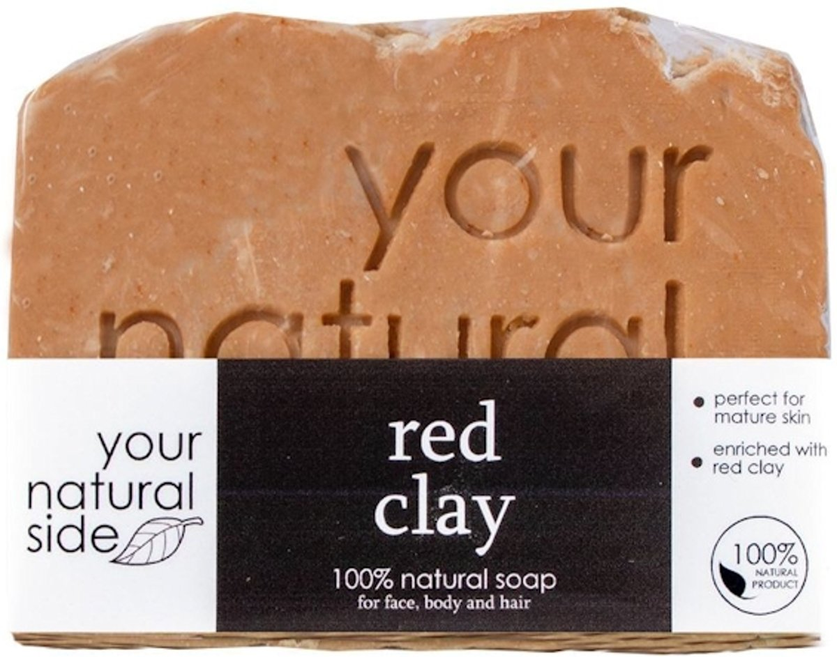 Your Natural Side Red Clay Soap 100g.