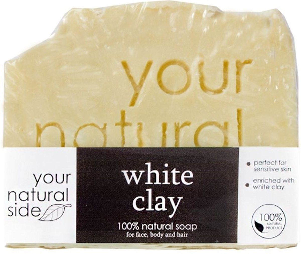 Your Natural Side White Clay Soap 100g.