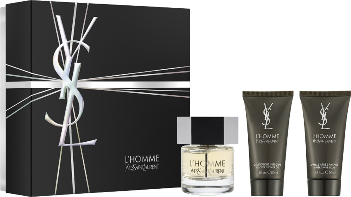 Yves Saint Laurent - Eau de toilette - Lhomme 60ml eau de toilette + 50ml showergel + 50ml aftershave balm - Gifts ml