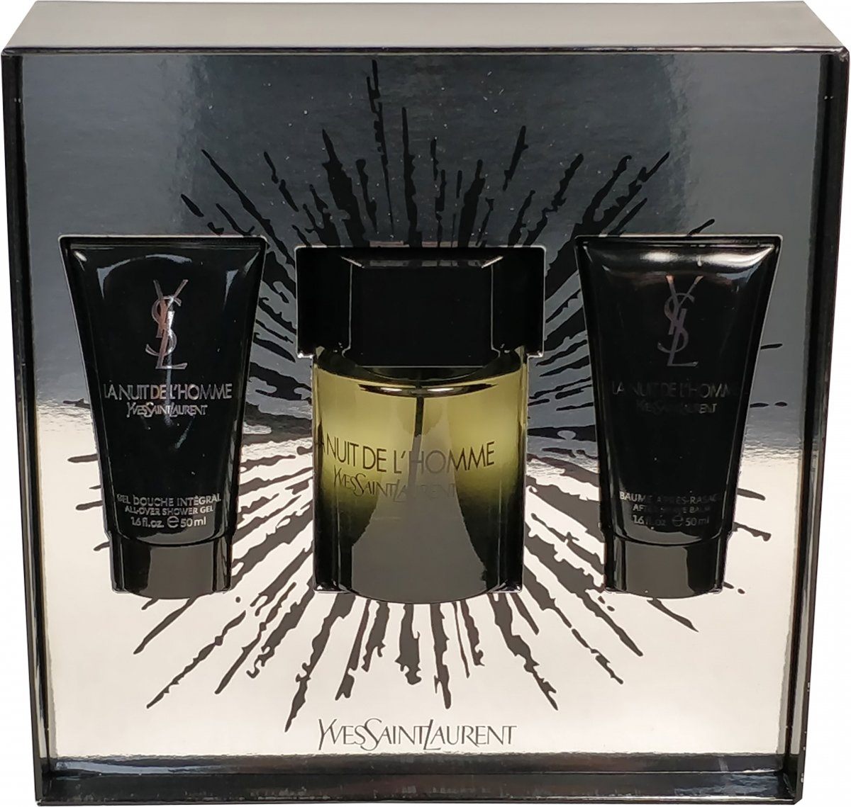 Yves Saint Laurent - Eau de toilette - La nuit de Lhomme 100ml eau de toilette + 50ml aftershave balm + 50ml showergel - Gifts