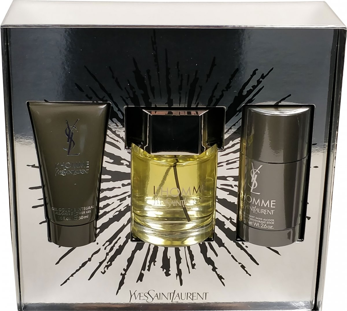 Yves Saint Laurent - Eau de toilette - Lhomme 100ml eau de toilette + 75ml deostick + 50ml showergel - Gifts ml
