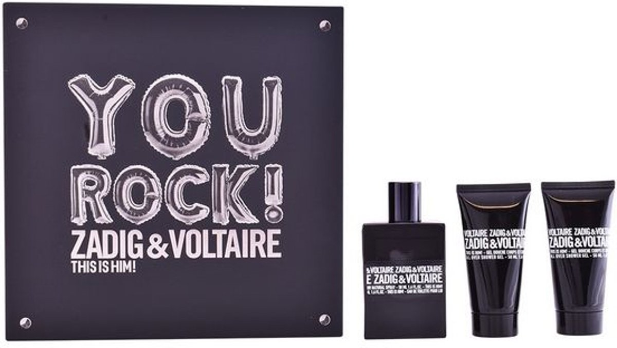 Parfumset voor Heren This Is Him! You Rock! Zadig & Voltaire (3 pcs)