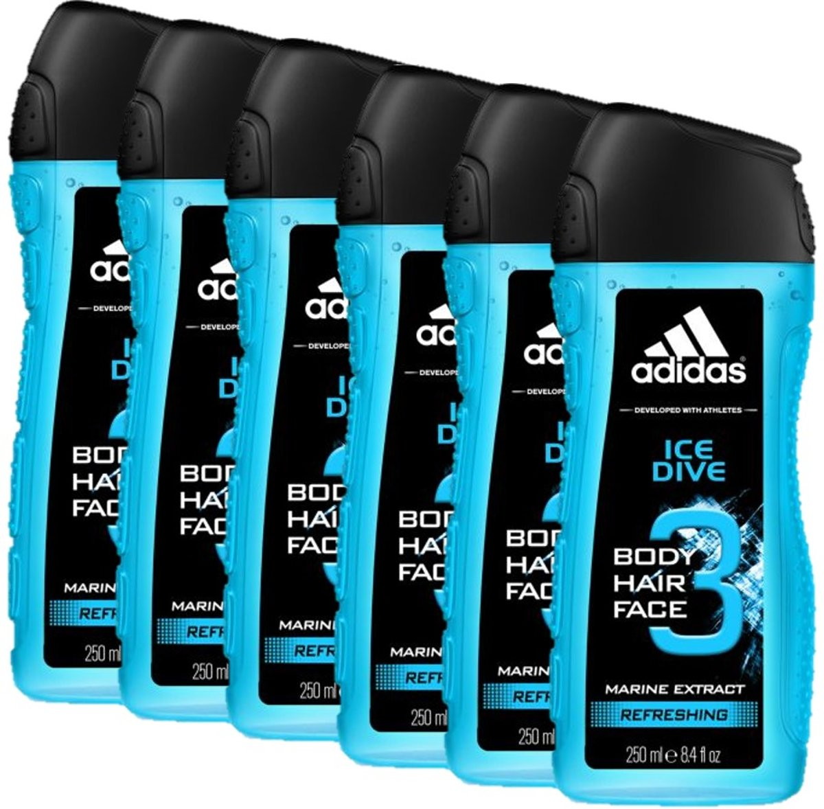 Adidas - Douchegel - 3in1 - Ice Dive - 6 x 250 ml