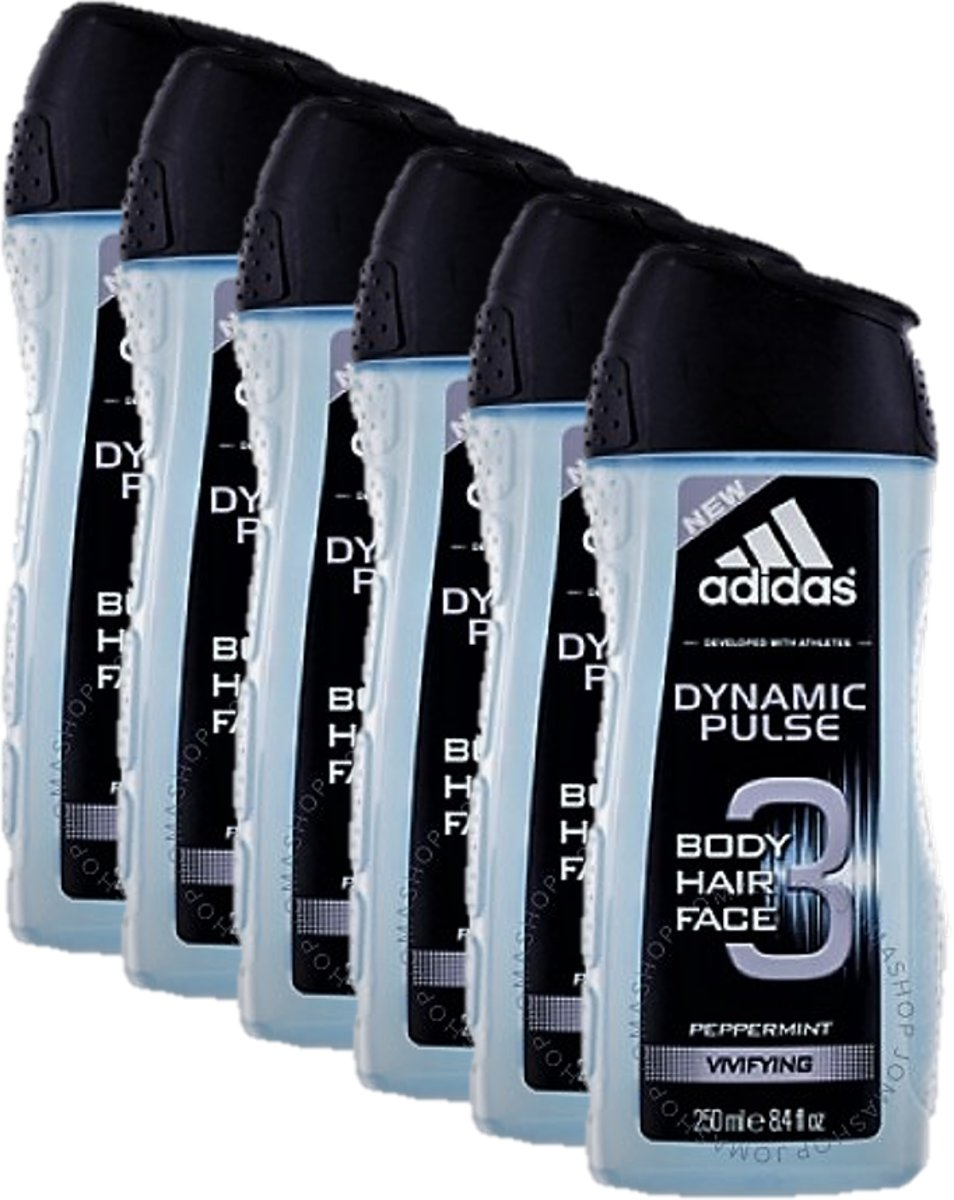 Adidas - Douchegel 3in1 - Dynamic Pulse - 6 x 250 ml