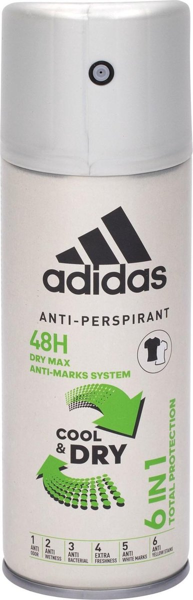 Adidas 6in1 Cool & Dry 48h 150ml Antiperspirant