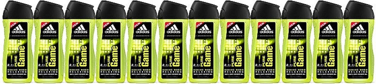 Adidas Pure Game Hair En Body Showergel 2in1 Voordeelverpakking