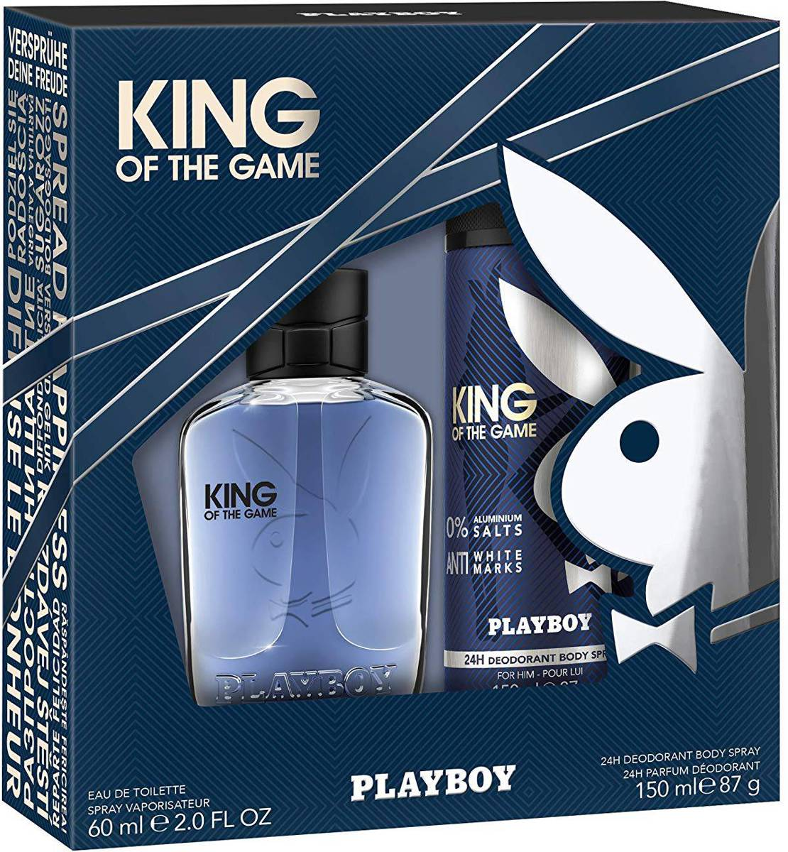 Playboy King of the Game for Him Giftset 210,00 ml