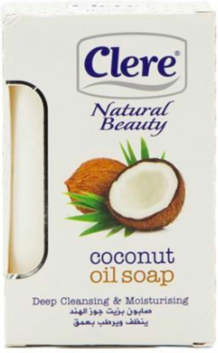 Clere - Natural Beauty - Coconut Oil - Soap 150g