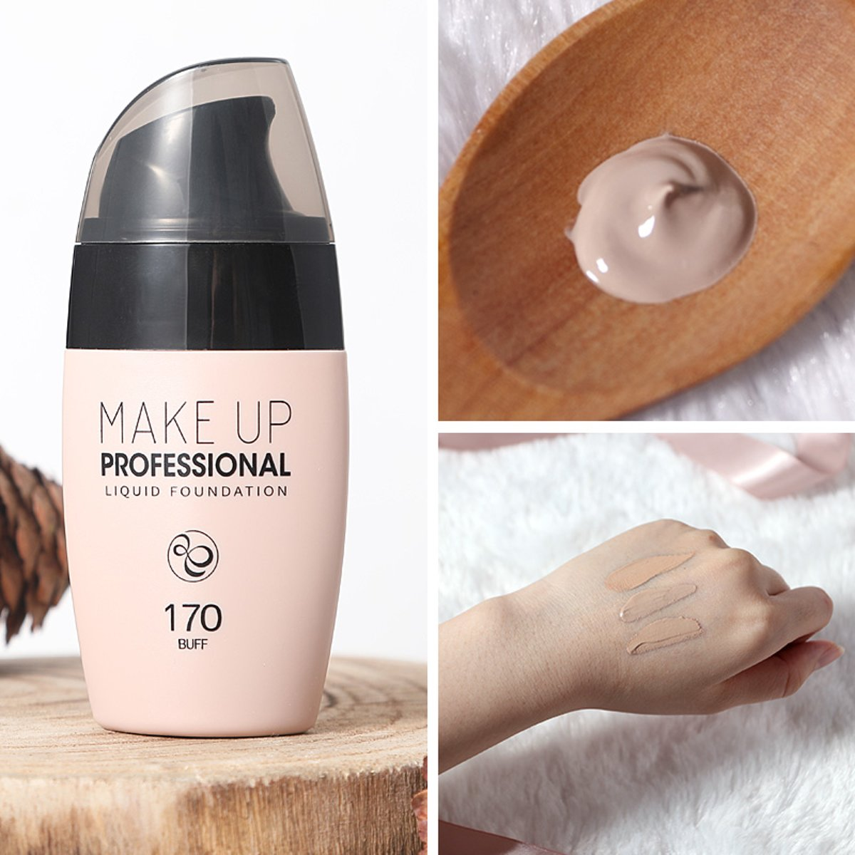 170 BUFF - LAIKOU moisturizing foundation makeup base lasting concealer liquid