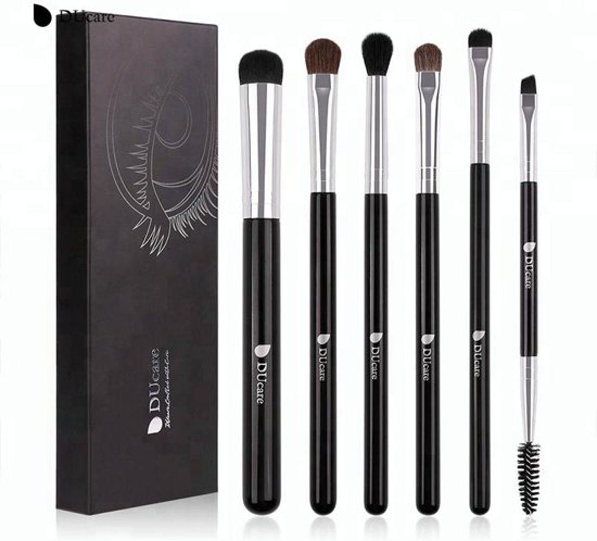 6-delige Make-Up Kwastenset - Ducare - Make-Up Set Professioneel - Cosmetica