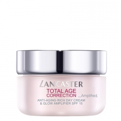 Lancaster Total Age Correction Anti-Aging Rich Day Cream & Glow Amplifier Dagcrème 50 ml