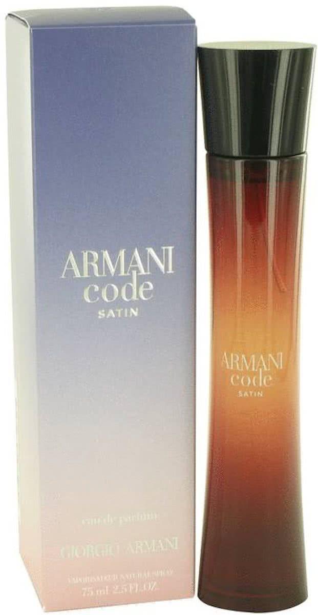 Satin Parfum Armani Code Femme Giorgio 75 Eau Spray De Ml J3lFc1K5uT