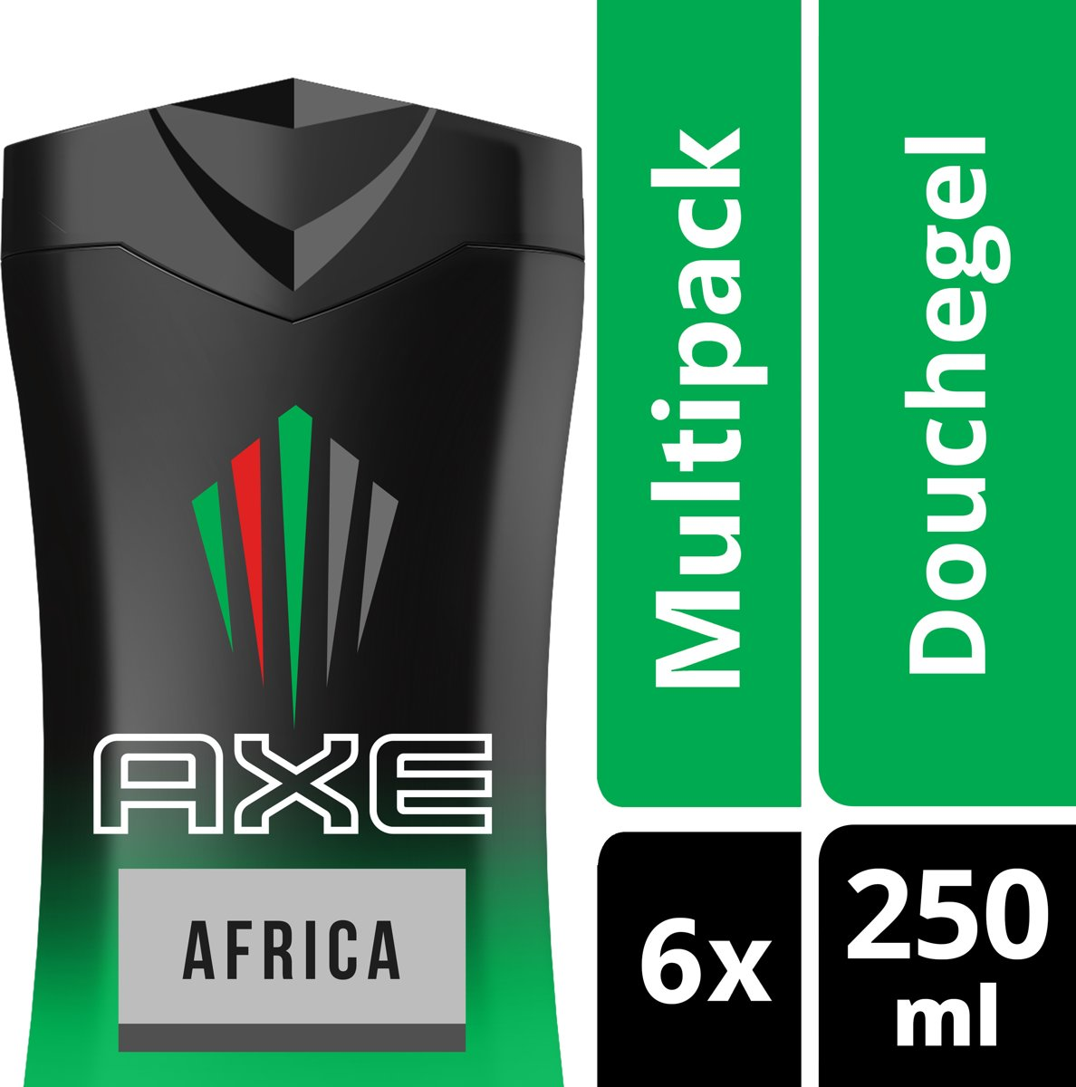 Axe Africa For Men - 6 x 250 ml - Douchegel - Voordeelverpakking