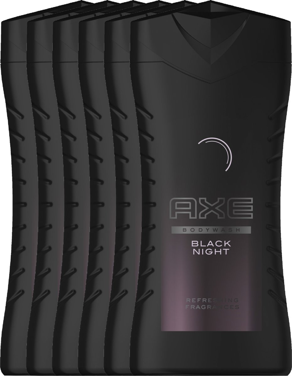 Axe Black Night For Men - 6 x 250  ml - Douchegel - Voordeelverpakking