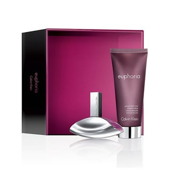 Calvin Klein Euphoria gift set met 100ml eau de parfum + 100ml bodylotion