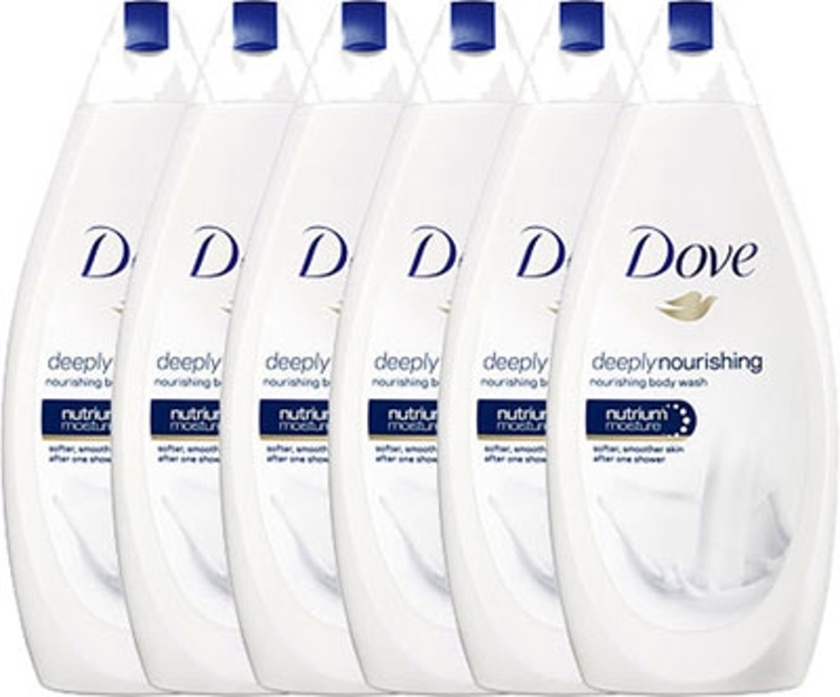 Dove Douchegel Deeply Nourishing - 6 x 500ml - Voordeelverpakking