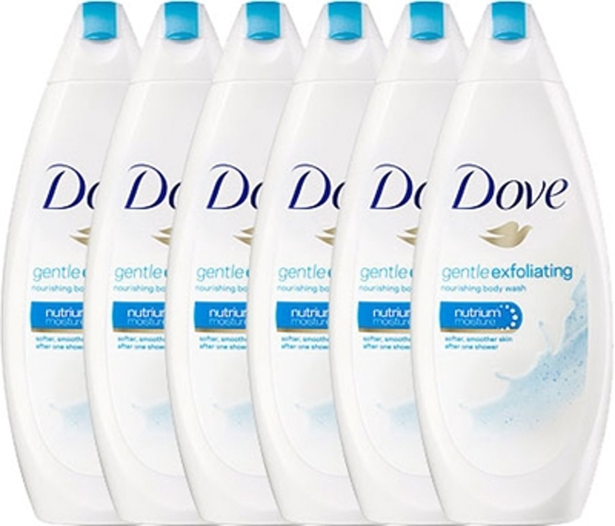 Dove Gentle Exfoliating Women - 6 x 250  ml - Douchecrème - Voordeelverpakking