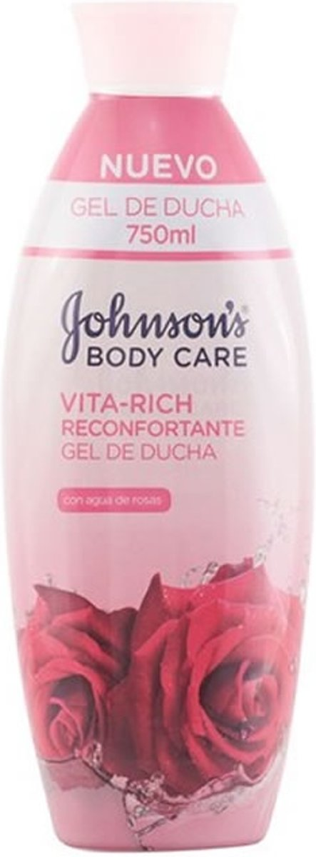 MULTI BUNDEL 5 stuks Johnsons Vita Rich Comforting Roses Shower Gel 750ml