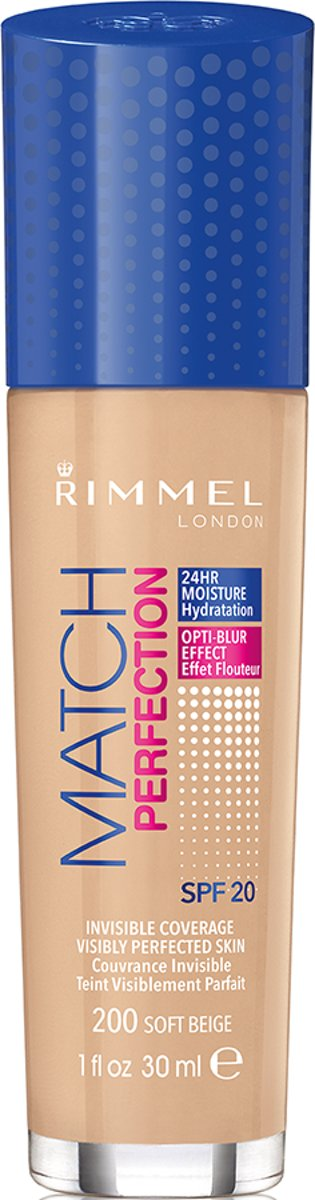 Rimmel London Match Perfection Foundation - 200 Soft Beige