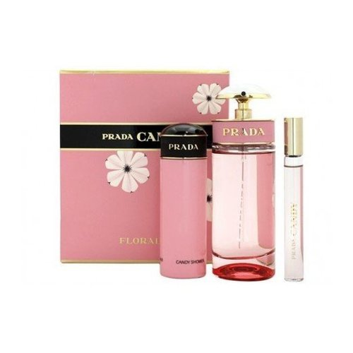 Prada Candy Florale gift set 80 ml eau de toilette + 75 ml shower gel + 10 ml eau de toilette