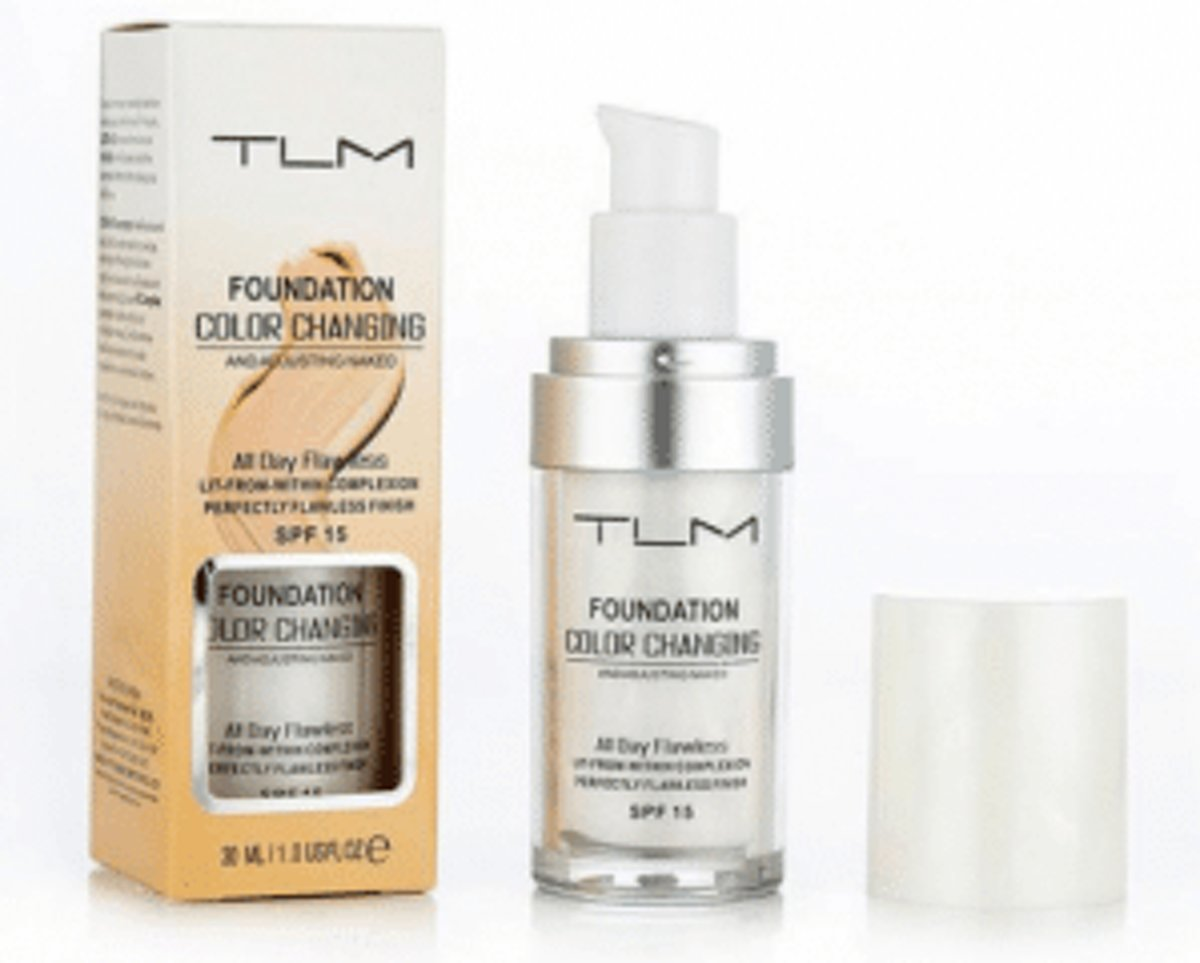 TLM Color changing foundation - kleurveranderende liquid foundation past zich aan je huid - flawless -