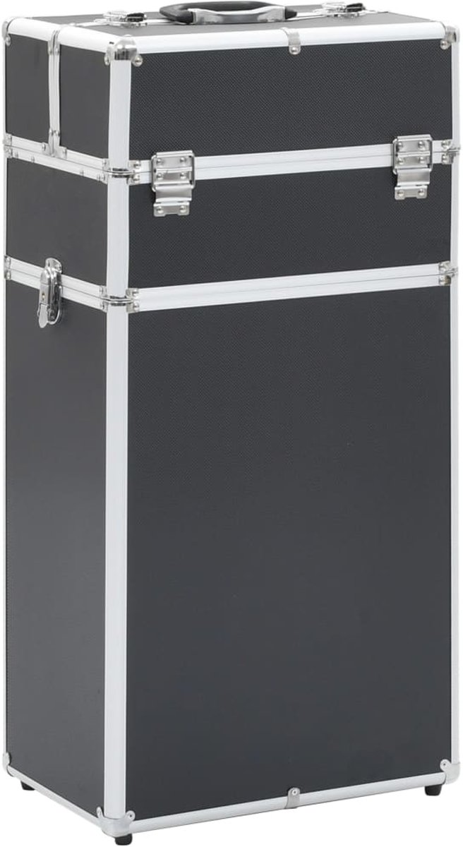Make-up trolley aluminium zwart (incl. Nepwimpers)